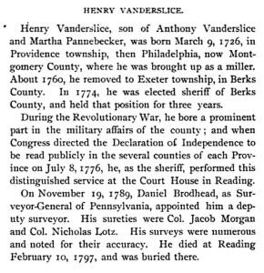 1894 entry on Vanderslice